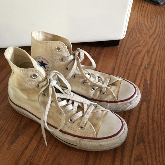 converse high top cream