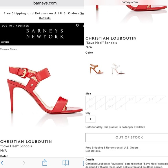 christian louboutin women's sova heel sandals