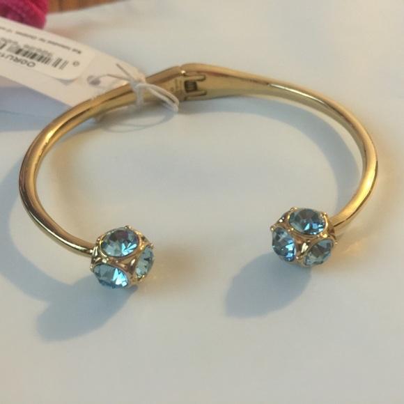Kate Spade Jewelry Crystal Ball Hinged Bangle Bracelet Poshmark