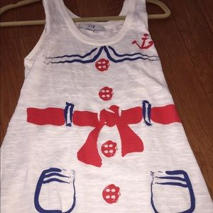 Cute forever 21 sailor top