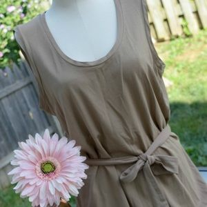 Kenar sleeveless tunic w/belted waist