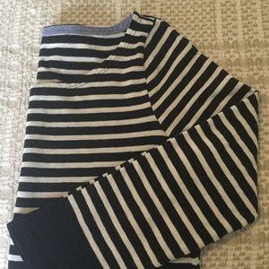 Navy/cream stripe t-shirt