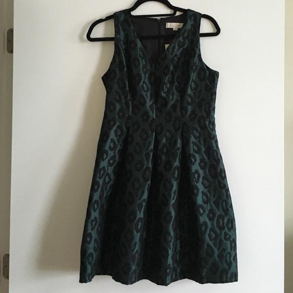 e9a61c5714 Dark emerald green leopard print dress NEW!