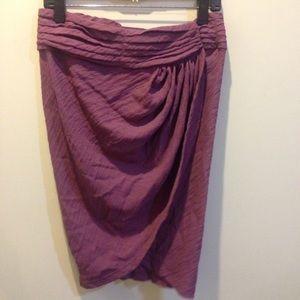 Elizabeth and James Dresses & Skirts - Elizabeth and James Plum Pleated Petal Skirt