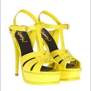 Saint Laurent Shoes - Yellow tributes YSL