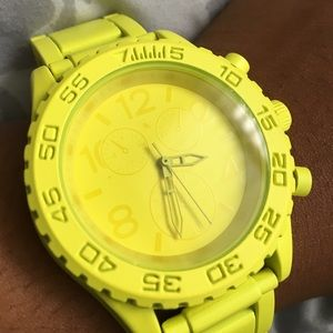NWOT Neon Yellow Statement Watch