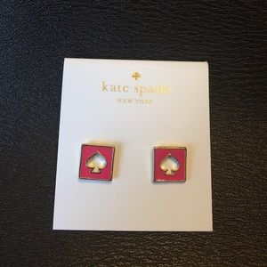 New Kate Spade earrings (pink)