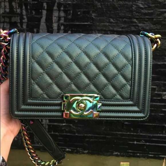 b8016bdb13d3 CHANEL Bags | Sold Iridescent Small Boy Mermaid Bag | Poshmark