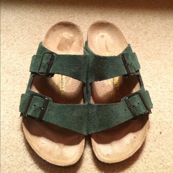 7016689fbf9 Birkenstock Shoes - Forest Green Birkenstock Suede Sandals. Sz 8