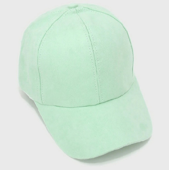 1725827fc0e 1Hr Sale  Mint Green Suede Baseball Cap