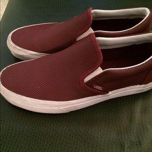 35cff3fa6e Vans Shoes - Women s Maroon 9.5 Leather slip on Vans