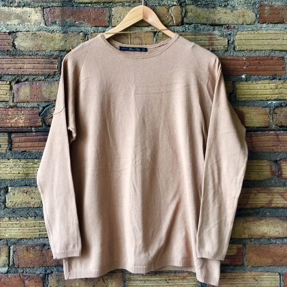 87% off Zara Sweaters - ZARA KNIT. Tan oversized sweater thin from ...