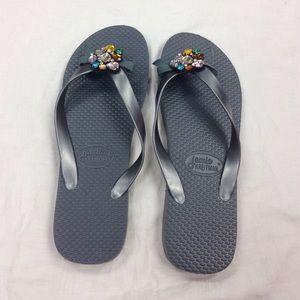 df66dde430fe4 Jamie Kreitman Shoes - Jamie Kreitman Flip Flops SZ 11  11.5