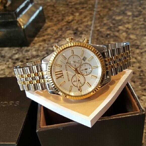 New Men's Michael Kors Lexington 45mm watch MK8344 NWT
