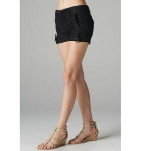 Esley Pants - Black Linen Shorts
