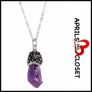 ❗1-HOUR SALE❗STATEMENT NECKLACE AMETHYST PENDANT