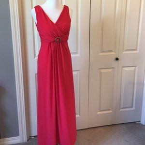 Chaps Dresses & Skirts - Red Chaps Maxi Dress
