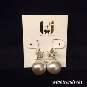 T&J Designs Jewelry - 🛍Star Pearl Earrings