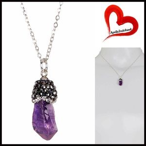 Boutique Jewelry - ❗1-HOUR SALE❗NECKLACE AMETHYST PAVE PENDANT