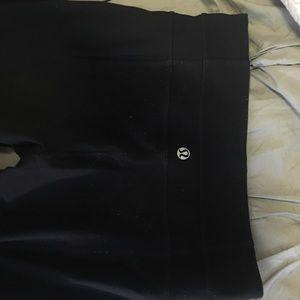 Flared black lululemon pants