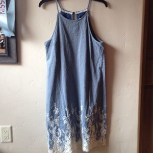 NWT Dressy demon and lace dress. Lace is beautiful
