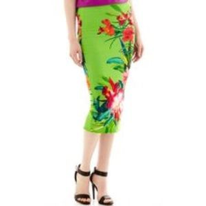 High Waisted, Floral Pencil Skirt