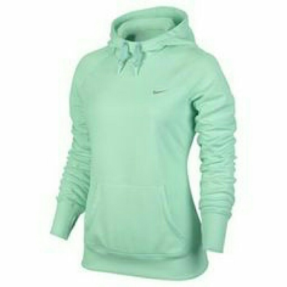 Nike thermal fit women's mint green hoodie