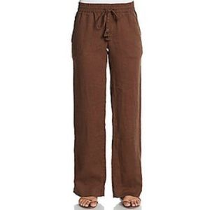 Calypso St. Barth Pants - Calypso St Barth espresso linen pants.