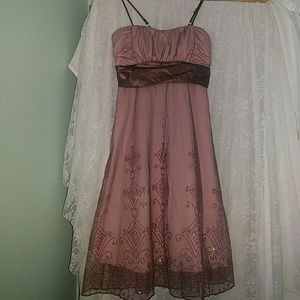 Alyn Paige Dresses & Skirts - Pink and Brown Glitter Dress