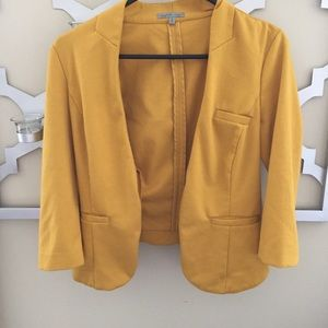 Mustard blazer