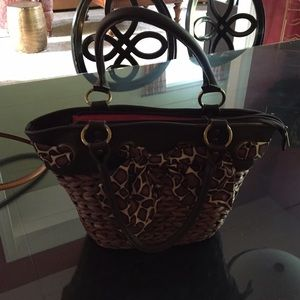 Aphorism Handbags - Brown straw handbag