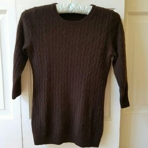 J. Crew cashmere cable knit sweater