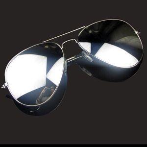 cc75343d666 Accessories - Silver Aviator Mirrored Sunglasses
