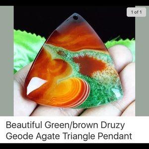 Jewelry - Druzy geode triangle pendant