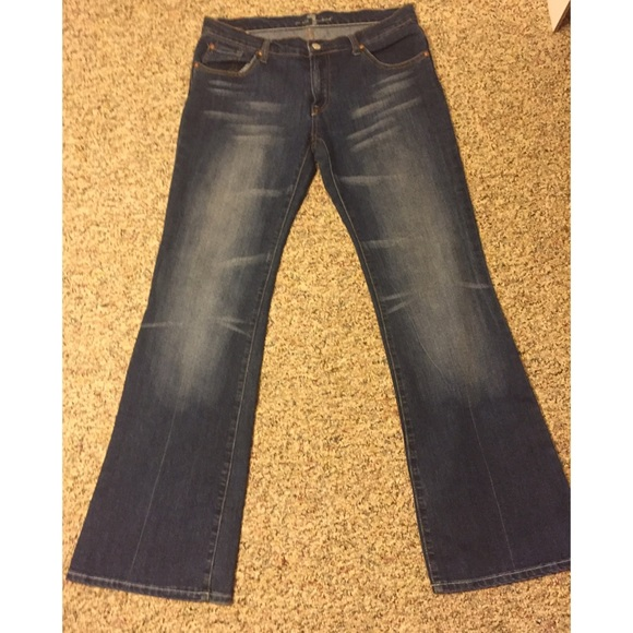 """7 For All Mankind Jeans - 7 for all mankind jeans. """"A"""" pocket. Size 30"""