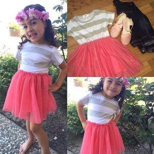 Other - 💕NEW💕 Little Girls Stripe Tutu Dress in Pink