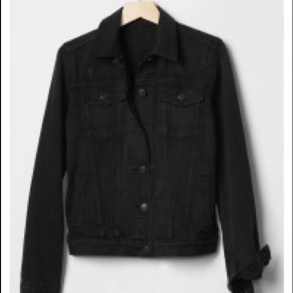 best online new style of 2019 huge sale Gap black denim jacket, M