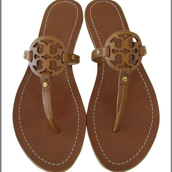 f1ef5b813a3b TORY BURCH TAN MINI MILLER THONG SANDALS