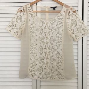 American Eagle Outfitters Tops - lace tshirt