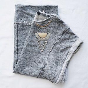 Grey Sleeveless Sweat Tee