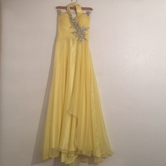 Yellow Jovani Prom Dresses 49