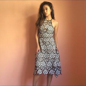 Keepsake Dresses & Skirts - Keepsake Trace Floral Lace Embroidered Midi Dress