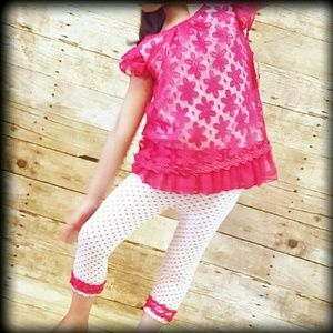Little Lass Other - FIRM🚨  NWT Girls 5 2 Pc Outfit Dress Capri