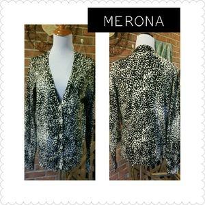 Merona Sweaters - GORGEOUS ANIMAL PRINT CARNIGAN BY MERONA