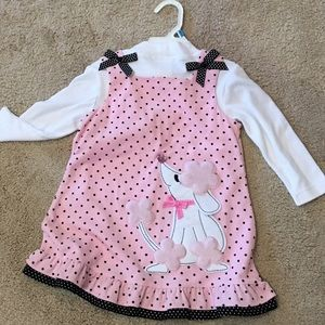 Rare Editions Other - Cute pink corduroy poodle dress