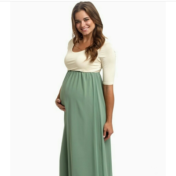 a0b90054adb18 Pinkblush maternity Dresses | Colorblock Chiffon Maxi Dress | Poshmark