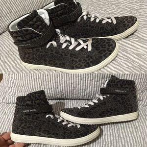 Pierre Hardy Shoes - Pierre Hardy Leopard High Top Sneakers Size 40