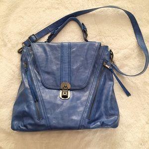 Melie Bianco Blue Large Handbag