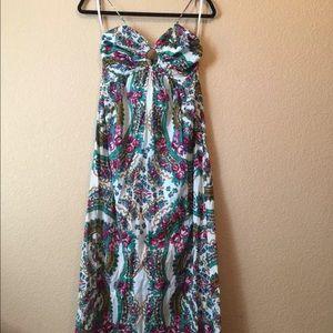 Zimmermann cotton boho floral maxi dress size 1 XS