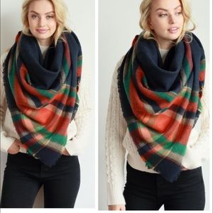 •fall plaid blanket scarf•